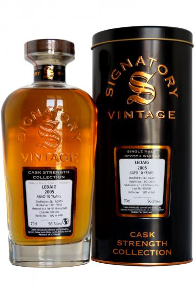 Signatory 'Cask Strength Collection' Ledaig 2005 - 10 years old